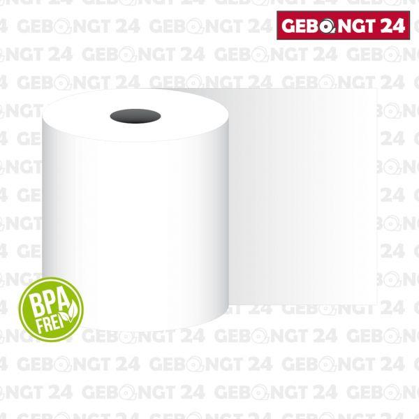 Thermopapierrolle 38mm breit, weiß, BPA frei