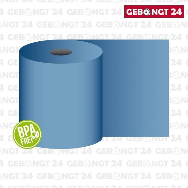 Thermorolle 80 mm x 50 m x 12 mm, blau, BPA frei