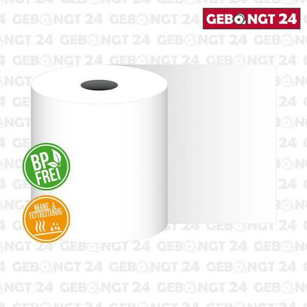 Thermorolle 80 mm x 80 m x 12 mm, BP frei, Wärme- und Fettbeständig