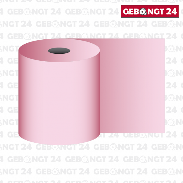 Thermorolle 62mm, rosa (Abb. ähnlich)