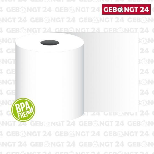 Thermopapierrolle 80mm breit, weiß - 55g/m²