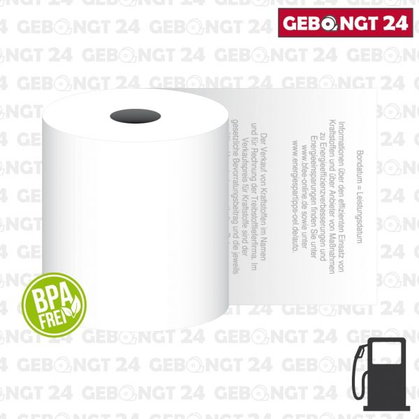 Thermorolle 80x80 für freie Tankstellen - BPA frei
