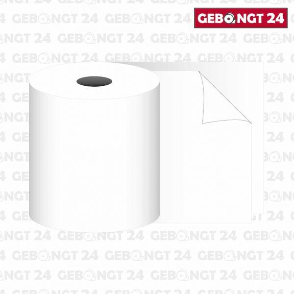 Bonrolle 70 x 25m x 12 mit Durchschlag (weiß-weiß)