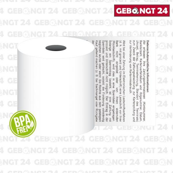 Thermopapierrolle 57mm x 18m I BPA frei I 55g