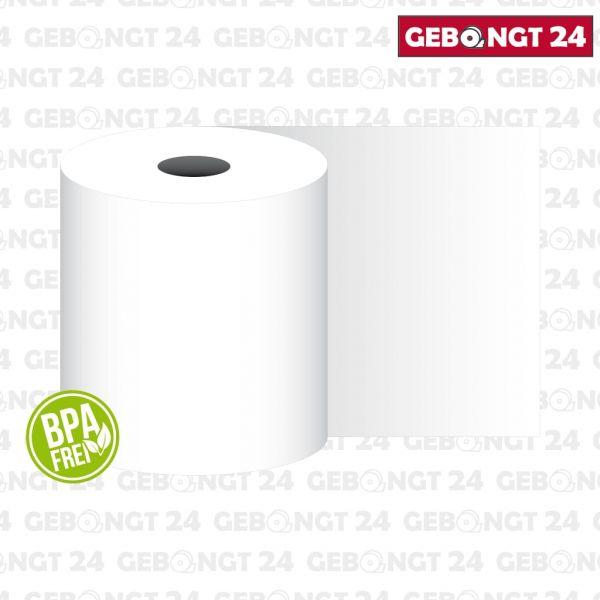 Thermopapierrolle 57mm breit, weiß, BPA frei