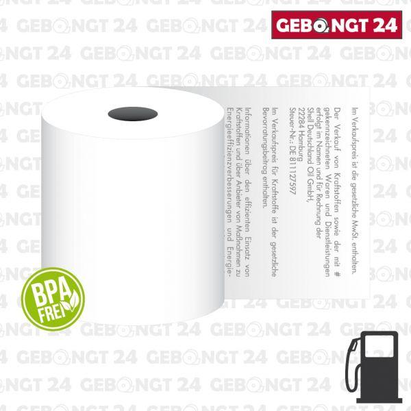 Thermorolle 80x80 für Shell Tankstellen - BPA frei