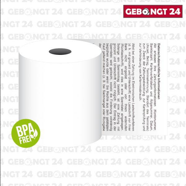 Thermopapierrolle 57mm, BPA frei
