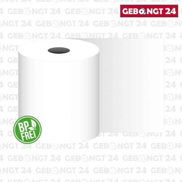 Thermopapierrolle 80mm breit, weiß - phenolfrei