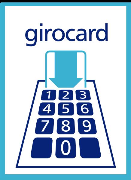 Girocard Fensteraufkleber 74mm x 105mm