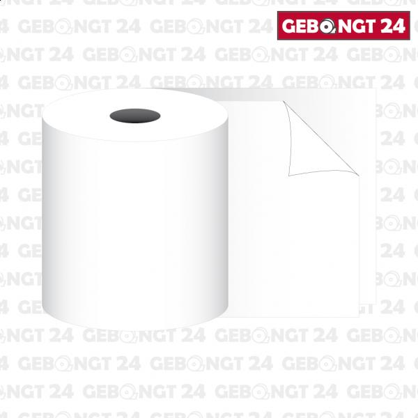 Kassenolle 76 x 25m x 12 - 2-fach gewickelt, weiß/weiß