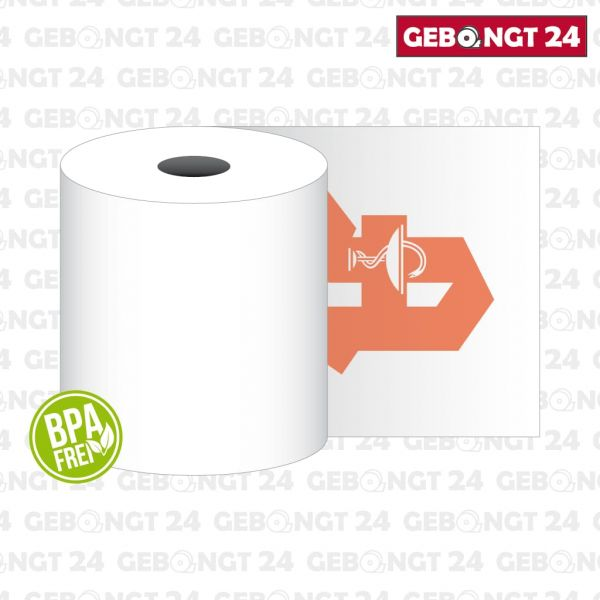 Apothekenrolle 80x80 mit Rückseitendruck - BPA frei