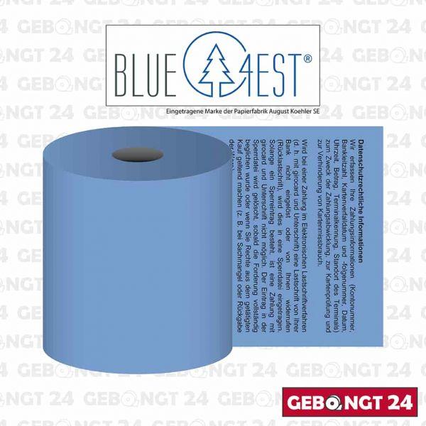 Blue4est Öko Thermorolle 57x18x12 mit SEPA Lastschrifttext