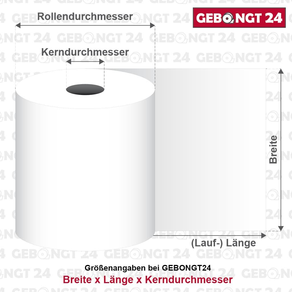 Infografik: Maße einer Bonrolle