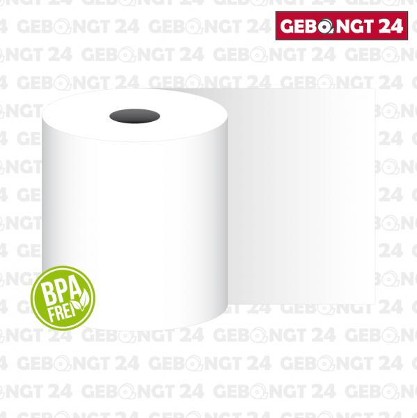Thermopapierrolle 80mm breit, weiß - 75g/m² - BPA frei