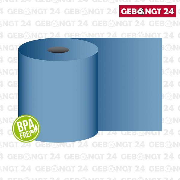 Thermorolle 80mm x 80m x 12mm, blau
