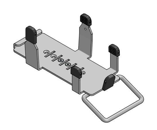 """SpacePole® EC Halteplatte für """"Ingenico Move/3500"""" und """"Ingenico Move/5000"""" mit Dock"""