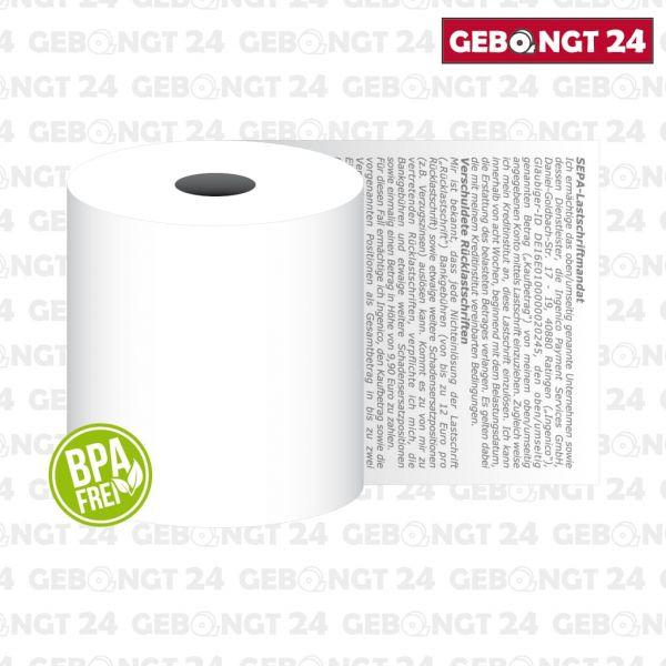 ec-Thermorolle 57x 10m x12 mit Ingenico Lastschrifttext
