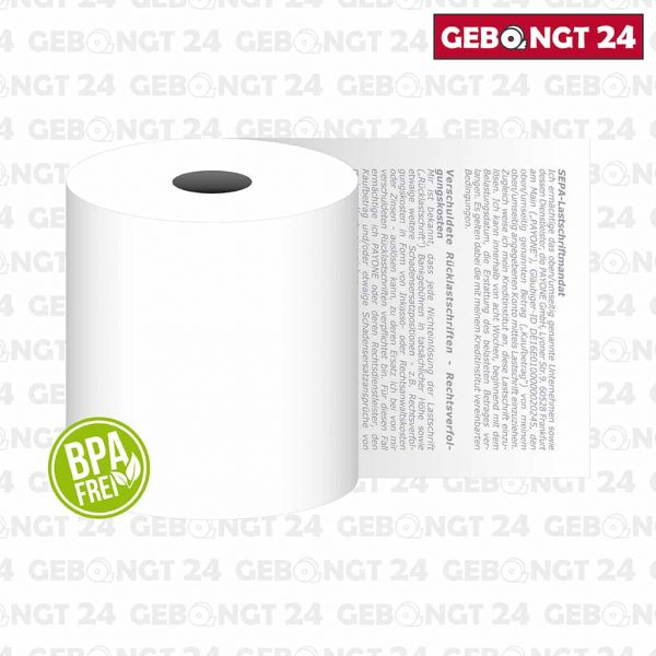 Thermorolle 57 x 25m x 12, Payone Lastschrifttext - Titelbild