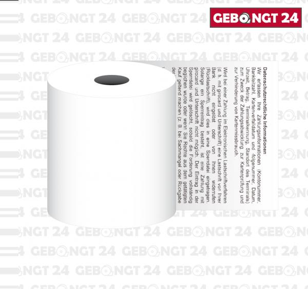 Thermorolle 57mm mit neutralem Sepa Lastschrifttext