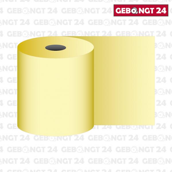 Thermorolle 58mm, gelb (Abb. ähnlich)