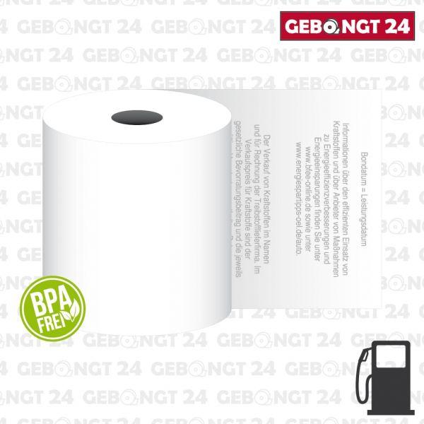Thermorolle 58mm für freie Tankstellen - BPA frei